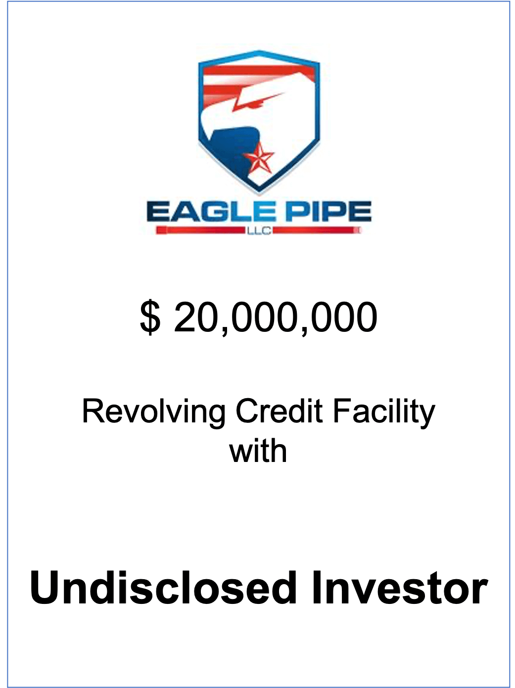 NorthView represents Eagle Pipe for a second time