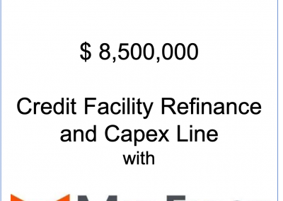 Working capital facility and Capex Line for Morcon, Inc.